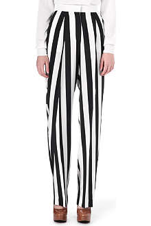 STELLA MCCARTNEY Wide stripe silk trousers