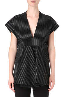 STELLA MCCARTNEY V-neck pinstripe top