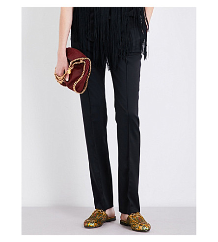 STELLA MCCARTNEY Anna straight-leg wool trousers (Black