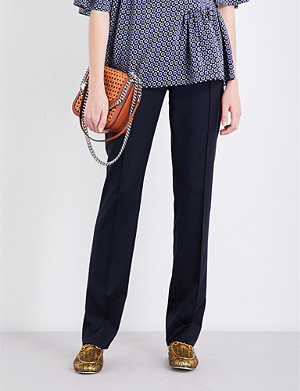 STELLA MCCARTNEY Anna straight-leg wool trousers