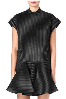 STELLA MCCARTNEY Tunic stripe flared dress
