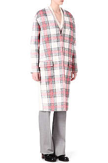 STELLA MCCARTNEY Tartan cashmere blend coat