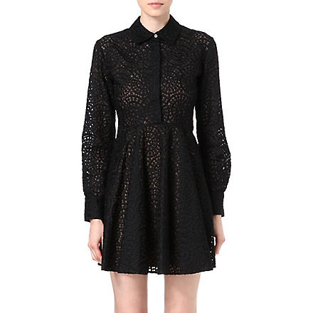 STELLA MCCARTNEY Lace shirt dress (Black