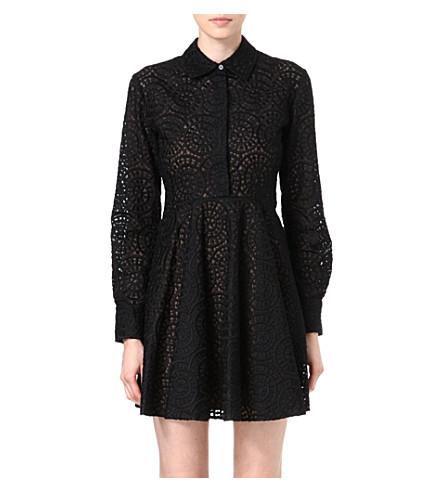STELLA MCCARTNEY Lace shirt dress (Black