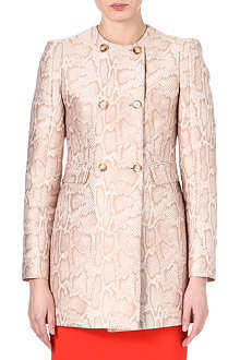 STELLA MCCARTNEY Python-print coat