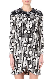 STELLA MCCARTNEY Heart-print silk dress