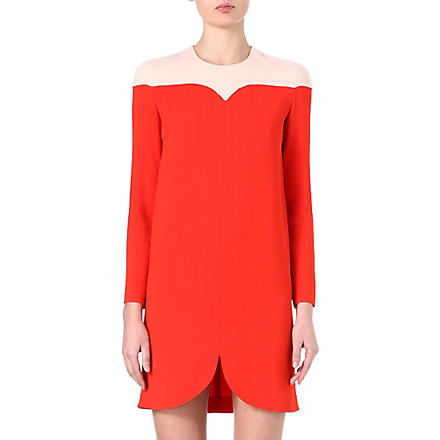 STELLA MCCARTNEY Two-toned shift dress (Red