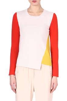 STELLA MCCARTNEY Colour-blocked cashmere jumper