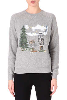 STELLA MCCARTNEY Owl Christmas sweatshirt