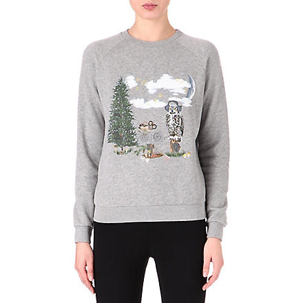 STELLA MCCARTNEY Owl and Mouse sweatshirt (Grey