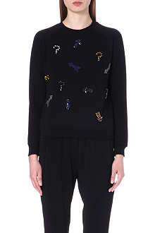 STELLA MCCARTNEY Embellished jersey sweatshirt