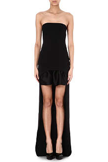 STELLA MCCARTNEY Asymmetric ruffled-hem gown