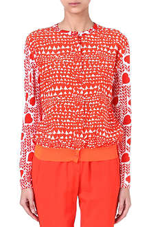 STELLA MCCARTNEY Heart-print knitted caridgan