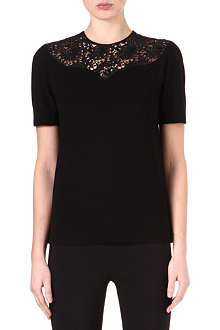 STELLA MCCARTNEY Lace-panel top