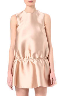 STELLA MCCARTNEY Duchesse satin gathered-waist dress