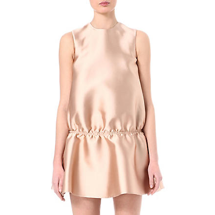 STELLA MCCARTNEY Duchesse satin gathered-waist dress (Nude