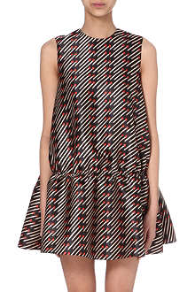 STELLA MCCARTNEY Matchstick-print babydoll dress