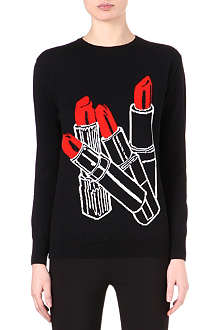 STELLA MCCARTNEY Lipstick knitted jumper