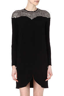 STELLA MCCARTNEY Crystal-embellished crepe dress