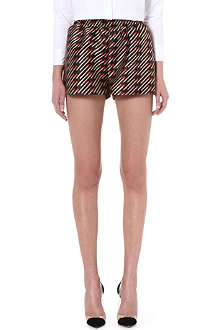 STELLA MCCARTNEY Matchstick-print shorts