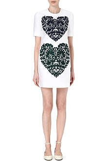 STELLA MCCARTNEY Embroidered heart shift dress