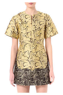 STELLA MCCARTNEY Short-sleeve python dress