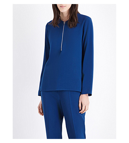 STELLA MCCARTNEY Arlesa stretch-crepe top (Petrol