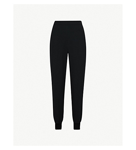 STELLA MCCARTNEY Julia high-rise tapered crepe trousers (Black