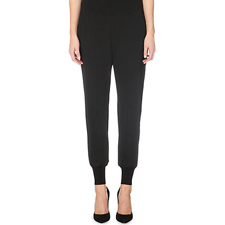 STELLA MCCARTNEY Cuffed jogging bottoms (Black