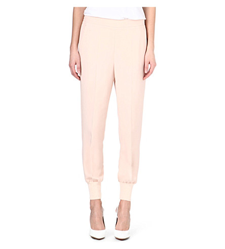 STELLA MCCARTNEY Cuffed crepe jogging bottoms (Nude