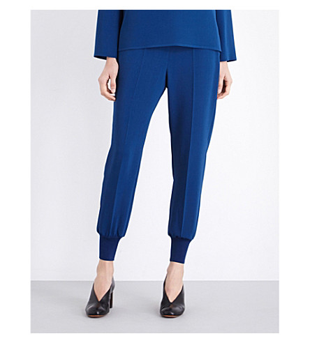 STELLA MCCARTNEY Julia loose-fit crepe trousers (Petrol