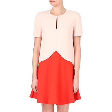 STELLA MCCARTNEY Two-tone dress (Red/nude