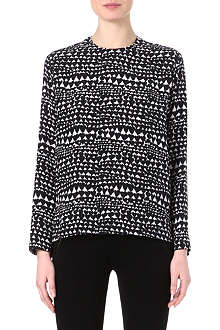STELLA MCCARTNEY Heat-print silk top