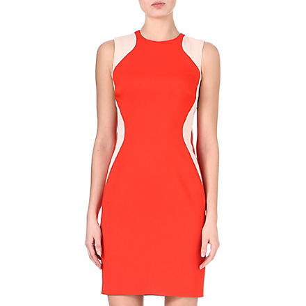 STELLA MCCARTNEY Contour-panel dress (Red/nude