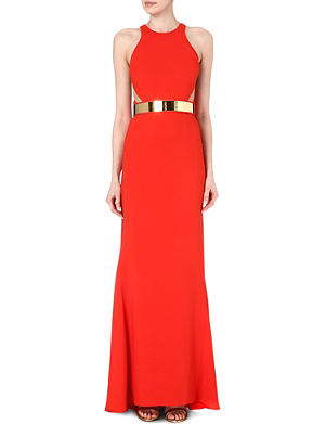 STELLA MCCARTNEY Belted mesh-detail gown