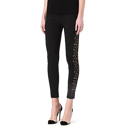 STELLA MCCARTNEY Mirabella lace-detailed leggings (Black