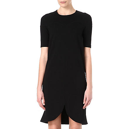 STELLA MCCARTNEY Curved-hemline dress (Black
