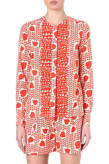STELLA MCCARTNEY Heart-print silk top