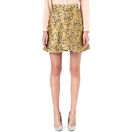 STELLA MCCARTNEY Python-print jacquard skirt (Yellow