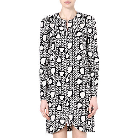 STELLA MCCARTNEY Heart-print silk dress (Black