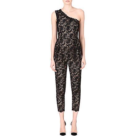 STELLA MCCARTNEY Asymmetric lace jumpsuit (Black
