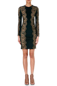 STELLA MCCARTNEY Lace-panel long-sleeve dress