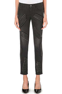 STELLA MCCARTNEY Zip-detail skinny high-rise jeans