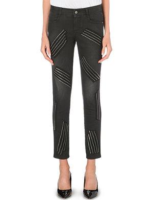 STELLA MCCARTNEY Zip-detail skinny high-rise jeans