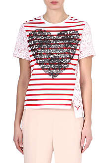 STELLA MCCARTNEY Striped heart t-shirt