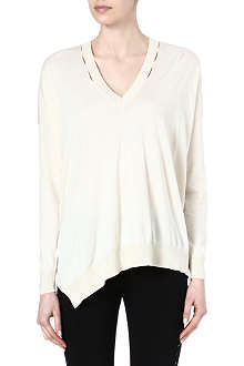 STELLA MCCARTNEY V-neck silk-blend jumper