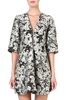 STELLA MCCARTNEY Zip-front daisy-print jacquard dress