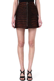 STELLA MCCARTNEY Croc-print jacquard skirt