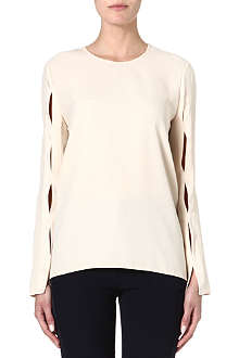 STELLA MCCARTNEY Split-sleeve crepe top