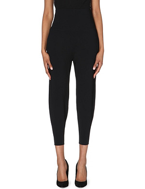 STELLA MCCARTNEY High-waisted stretch-knit trousers